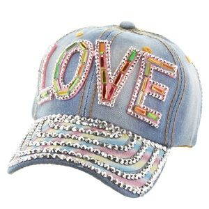 "Bedazzled Bling ""Love"" Hat."
